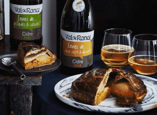 Galette des rois sucrée / salée à la crème de potimarron cardamome, poire et cacahuètes et cidre doux