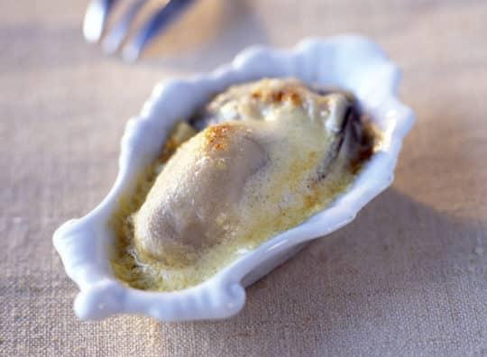 Huîtres chaudes au cidre brut