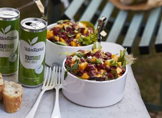 Salade tartare de canard à la mangue et canette tout Brut