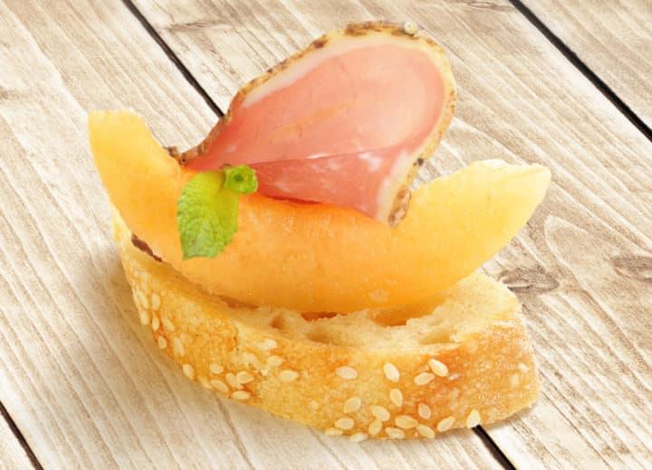 Toast Melon Et Jambon Italien Val De Rance