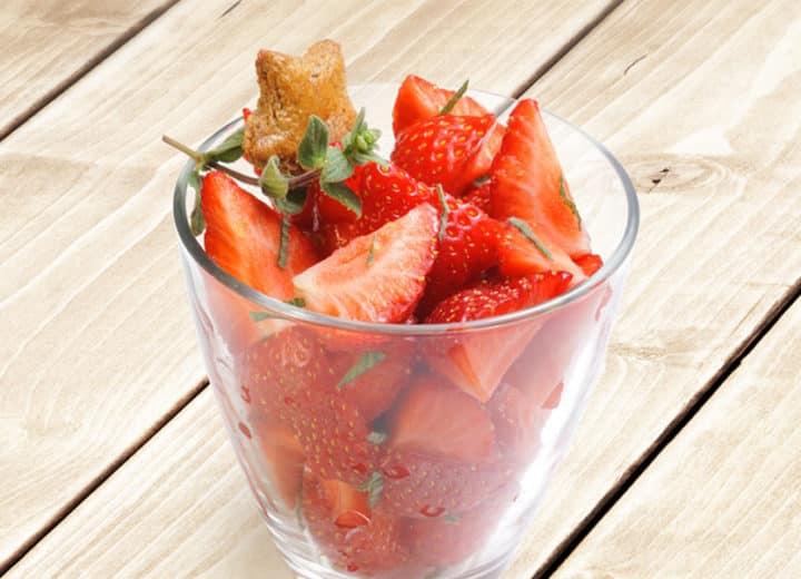 Verrine de fraises à la menthe et cidre rosé Envies de...